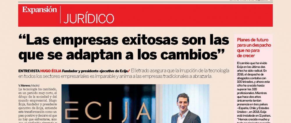 Expansión - Interview to Hugo Écija   ECIJA