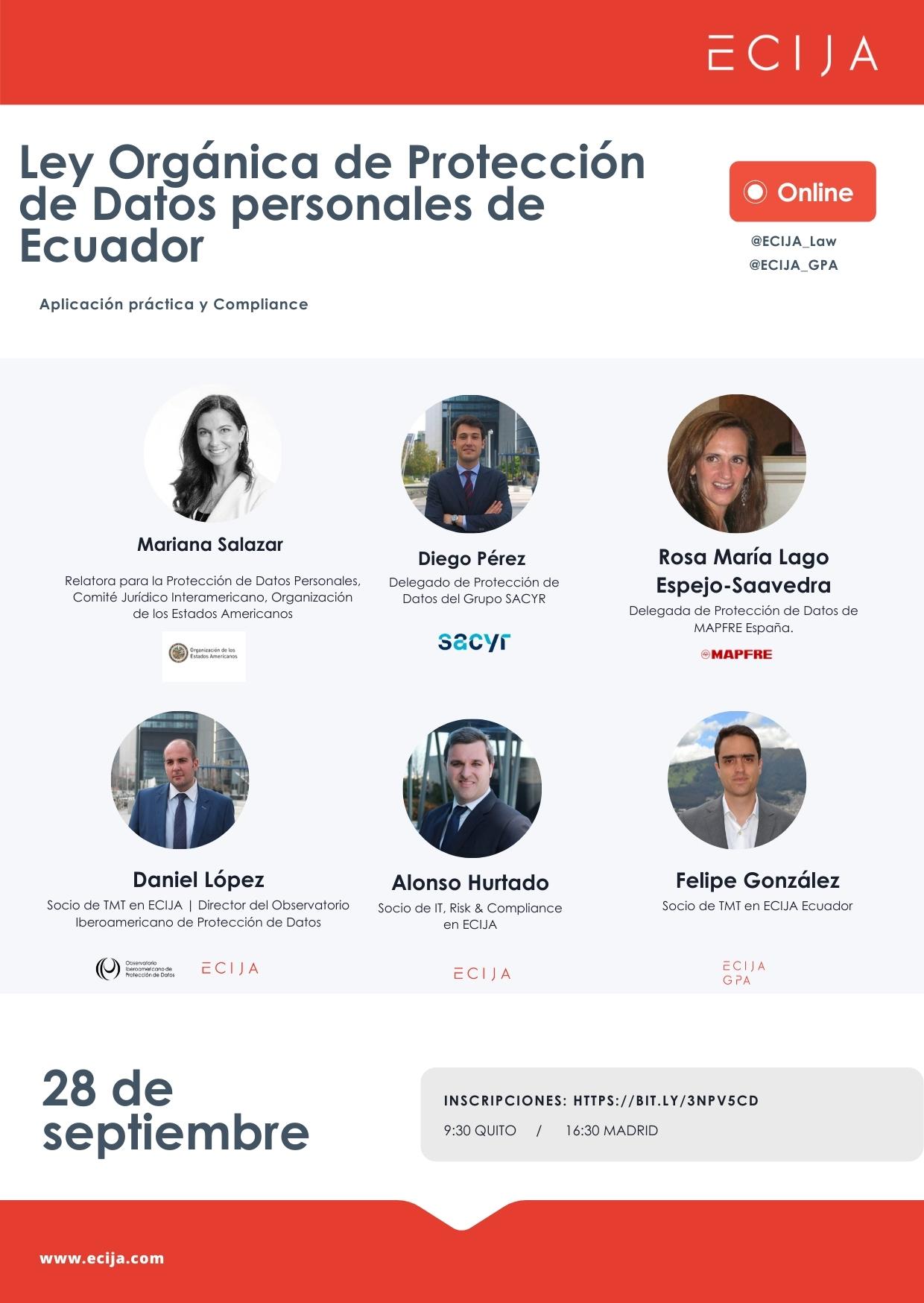 Webinar_Proteccion-de-Datos-Ecuador-_ Ley Orgánica de Protección de Datos personales de Ecuador. Aplicación práctica y Compliance.